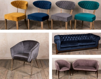 VELVET FURNITURE FOR YOUR HOME OR BUSINESS