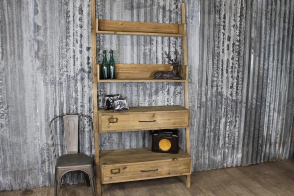 Reclaimed Timber Ladder Back Shelves