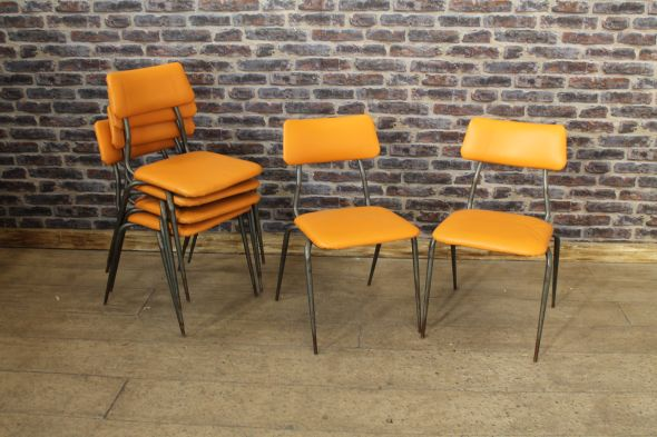 Orange Upholstered Chairs