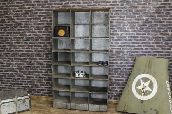 GREY IND OPEN BOOKCASE PIGEON HOLES