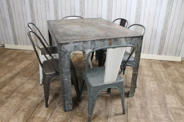 Galvanised Steel Industrial Table