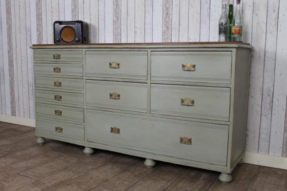 VICTORIAN PINE PAINTED SIDEBOARD KITCHEN UNIT