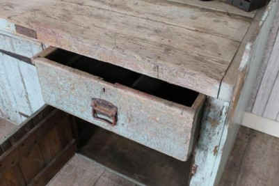 shabby chic pine workbench