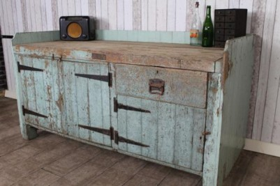 vintage industrial pine kitchen island