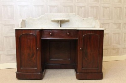 mahogany marble top wash stand
