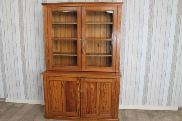 Antique Pitch Pine Bookcase