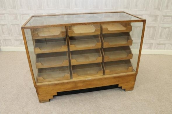 Oak haberdashery counter
