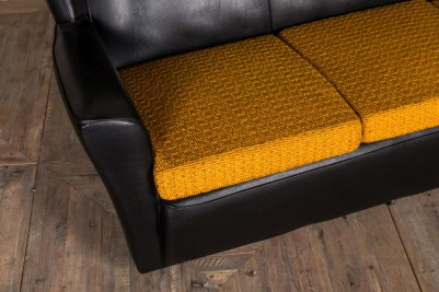 black and mustard sofa