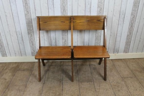 Church folding bench two seater