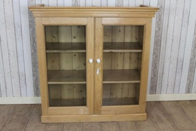 pine glazed bookcase