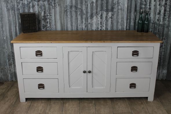 Shabby chic pine sideboard - painted