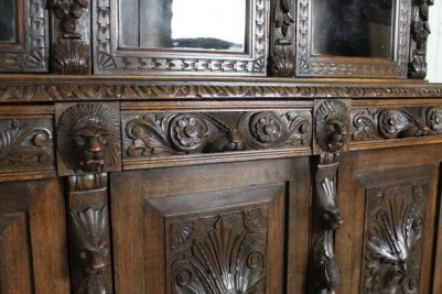 carved bookcase