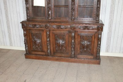 carved dresser bookcase