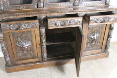 carved victorian oak dresser