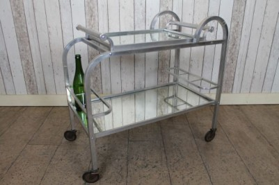 Small mirrored tea trolley