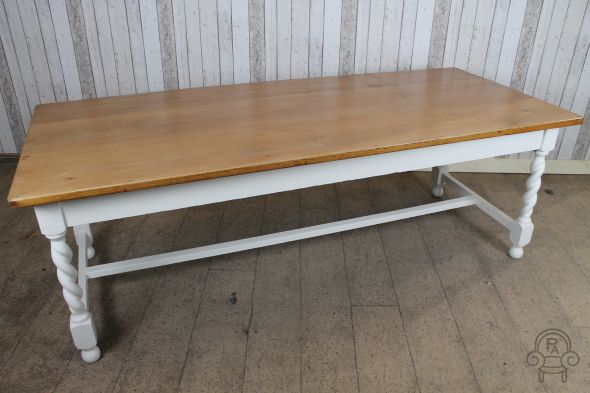 7ft refectory table with barley twist legs