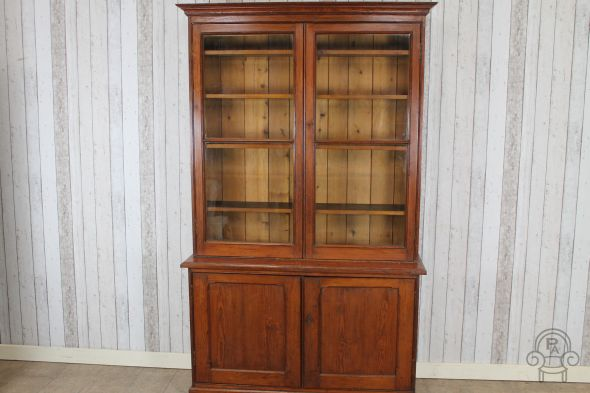 Victorian oak library bookcase