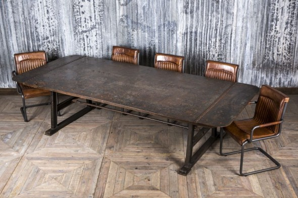 Vintage Metal Dining Table