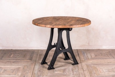 vintage metal base dining table