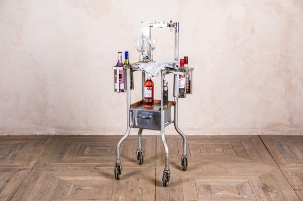 Vintage Industrial Drinks Trolley