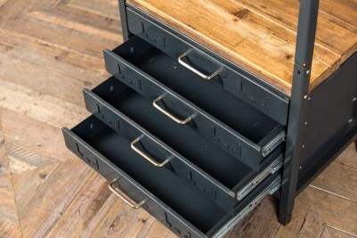 metal drawers shelving
