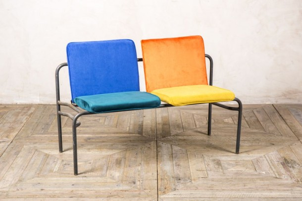 Vintage Reupholstered Colourful Stacking Benches