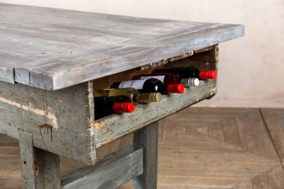 industrial style wine rack