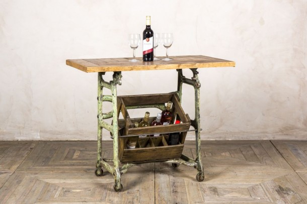 Vintage Cast Iron Kitchen Console Table