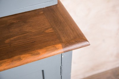 oak top kitchen cupboard