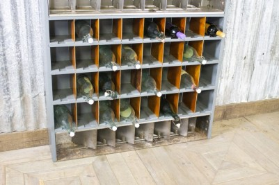 vintage metal bottle storage