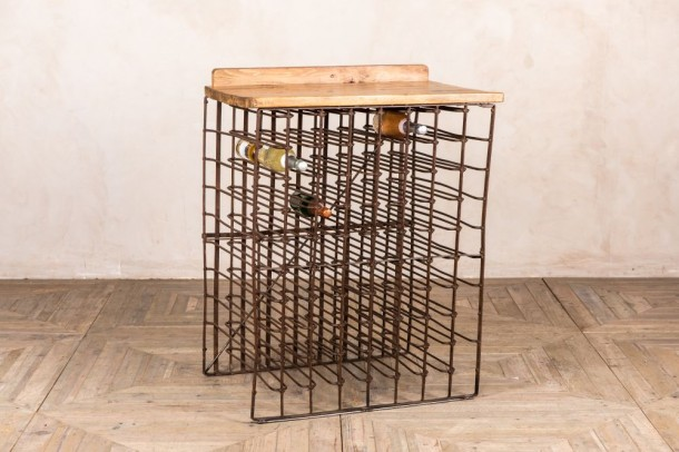 7 Row Vintage Wine Rack