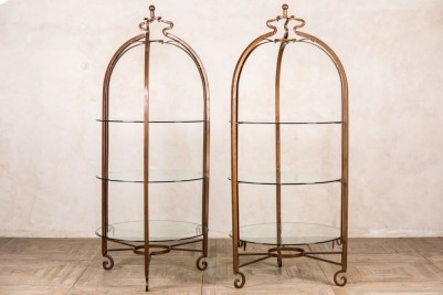 wrought iron display cabinets