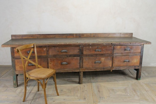 Large Industrial Pine Kitchen Dresser