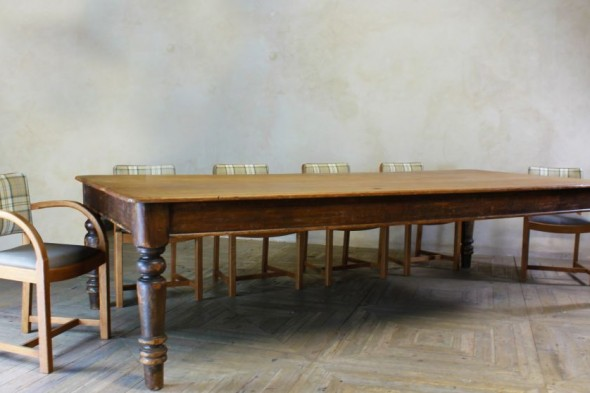 Large Victorian Genuine Pine Dining Table
