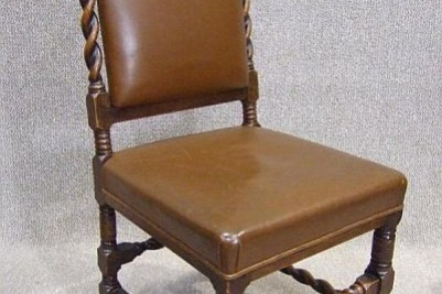 Solid oak Barley twist dining chair