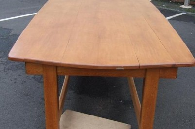 12 foot solid oak 1930s dining table