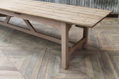 3.66m Large Pine Farmhouse Dining Table