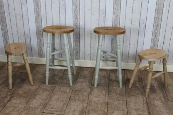 Tall Solid Oak Bar Stool