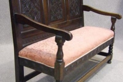 Antique monks bench