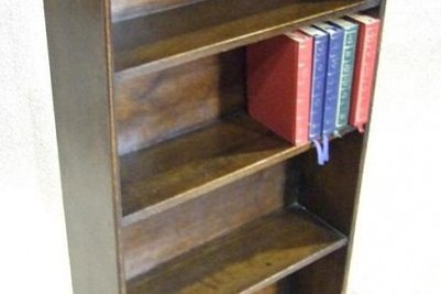 1920s narrow bookcase