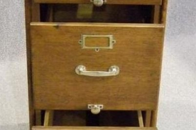 Antique office filing cabinet
