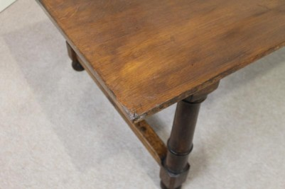 large solid oak antique dining table