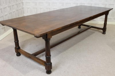 large solid oak refectory table
