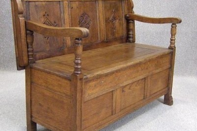 Solid Oak Monks bench