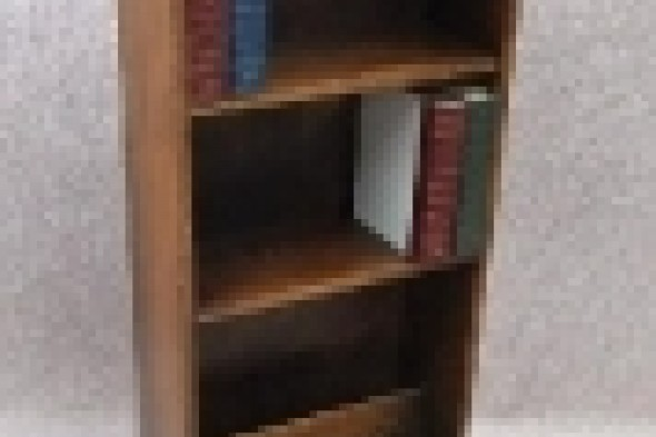 1930s Solid Oak Bookcase / Bookstand / Magazine Rack