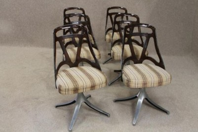 Set of retro dining chairs