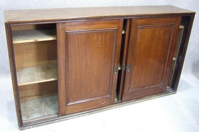 3 door Mahogany sliding bookcase