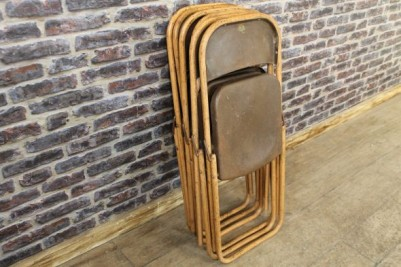 vintage industrial folding chairs