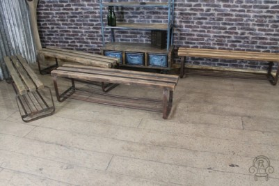 vintage industrial benches