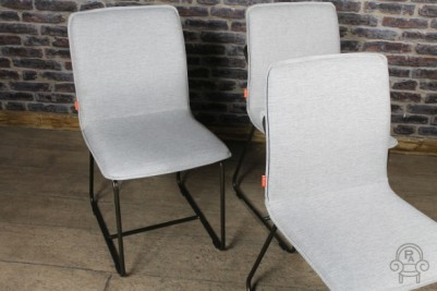 grey upholstered chairs